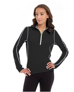 Olivia 1/4 Zip Light Jacket-S-Black